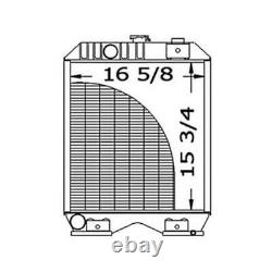 219925 Tractor Radiator 15 11/16 x 16 1/2 x 1 7/8 Fits Ford/Fits New Holland
