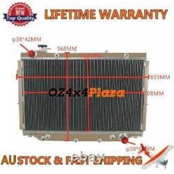 3 ROWS Aluminum Radiator For Toyota Landcruiser FZJ80 4.5L PETROL 1FZ-FE AUTO/MT