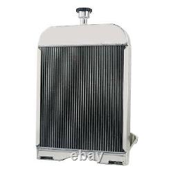 3 Row Aluminum Ford Tractor Radiator With CAP Fit Ford 9N 2N 8N Models 8N8005