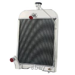 3 Row Aluminum Radiator with Cap Fit Ford 8N 9N 2N Models 8N8005 86551430