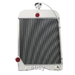 8N8005 3 Row Aluminum Radiator for Ford 8N 9N 2N Model Tractor 17 Core High