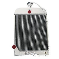 8N8005 3 Row Aluminum Tractor Radiator For Ford 2N 8N 9N Models 17''H x15 3/8''W