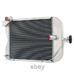 8N8005 3 Rows Aluminum Tractor Radiator With Cap For Ford 8N 9N 2N Models 437821