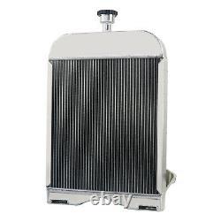 8N8005 86551430 Aluminum 3 Rows Radiator withcap For Ford 8N 9N 2N Models