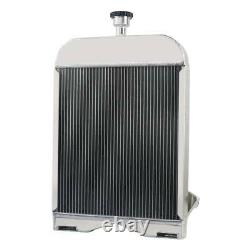 8N8005 Tractor Radiator For Ford 2N 8N 9N Tractor Black 3 ROW ALL ALUMINUM PRO