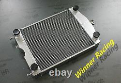 Aluminum radiator Ford 2N/8N/9N tractor withflathead V8 engine 1928-1952 56MM M/T