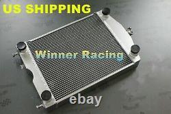 Fit Ford 2N/8N/9N tractor withflathead V8 engine Full aluminum radiator 56mm