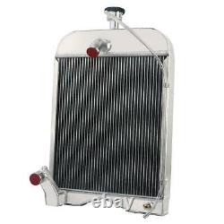 For Ford 8N, Ford 9N, Ford 2N Models 8N8005 437821 3 Row Tractor Radiator with Cap
