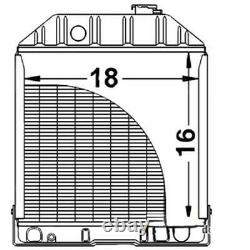 New C7NN8005H Radiator Fits Ford Tractor 2000 2600 3000 3400 3500 4000 4100 4400